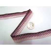 Triple Pink Lattice Lace