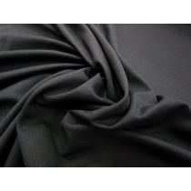 Fine Lightweight Cotton Jersey- Black #993