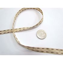 Stitch Natural Ribbon 10mm- Brown