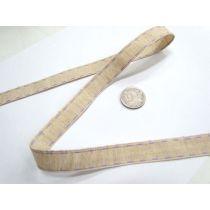 Stitch Natural Ribbon 15mm- Lavender