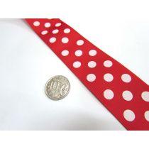 Spots Ribbon 38mm- Red