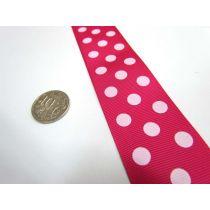 Spots Ribbon 38mm- Pink