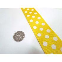 Spots Ribbon 38mm- Yellow