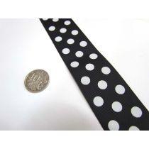 Spots Ribbon 38mm- Black