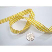 Gingham Ribbon 15mm- Yellow