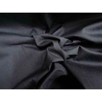 Stretch Poplin- Darkest Navy