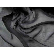 Textured Chiffon- Industrial Black
