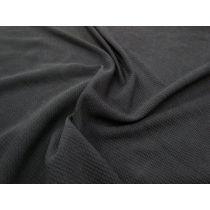 Mini Seersucker Knit- Short Black