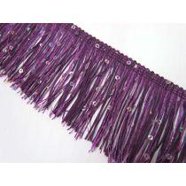 Sequin Fringe Trim- Purple