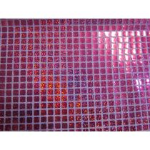 8mm Square Sequins- Cerise on Pink