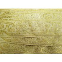 Metallic Brocade Ribbon Trim- Gold
