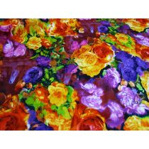 Brilliant Floral Sateen
