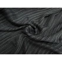 Black Rainfall Stripe Soft Viscose Suiting