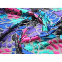 Marbled Paint Burnout Silk
