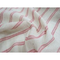 Vintage Linen Stripe- Red