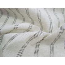 Vintage Linen Stripe- Black