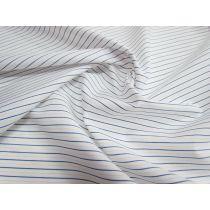 Cotton Stripe Shirting- White/Blue/Peach