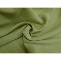 Textured Linen Blend Suiting- Spanish Olive