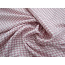 Rodeo Drive Houndstooth Suiting- Boutique Pink