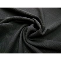 Double Mulin Gauze- Black