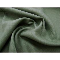 Linen Blend- Basil Green