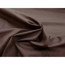 Designer Stretch Cotton Poplin- Mocha Brown