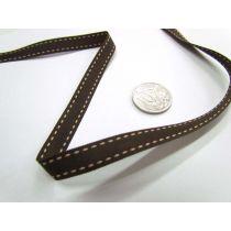 Stitch Ribbon 10mm- Brown / Latte