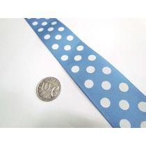 Spots Ribbon 38mm- Baby Blue