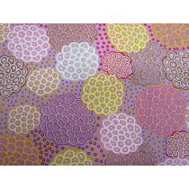 Dancing Flowers Cotton- Pink