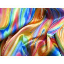 Rainbow Satin- Orange / Emerald / Aqua
