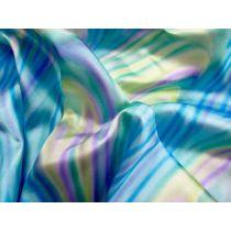 Rainbow Satin- Aqua / Mint / Yellow