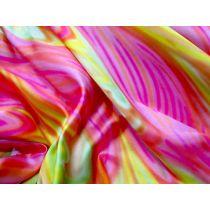 Rainbow Satin- Pink / Yellow