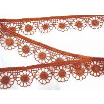 Daisy Plate Lace Trim- Amber