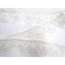 Daisy Plate Lace Trim- White