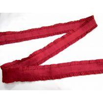 40mm Ruffle Ribbon Trim- Crimson