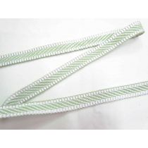 Candy Stripe Jacquard Webbing Tape- Mint