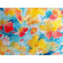 Impressionist Floral Cotton- Blue
