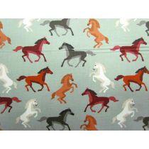 Wild Horses Cotton- Green