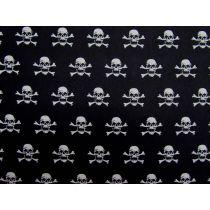 B&W Pirate Skulls Cotton