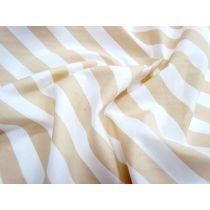 Striped Cotton Poplin- Caramel