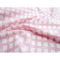 Lattice Cotton Poplin- Baby Pink