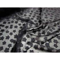 Fluffy Stars Chiffon- Black