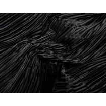 Fine Pleat Satin- Black