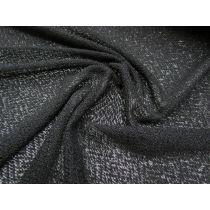 Sheer Woolly Look Soft Knit- Shiny Black