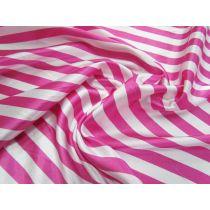 Stripe Satin- Pink/White