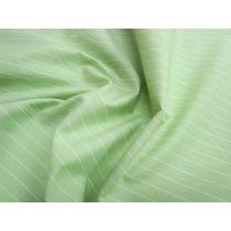 Striped Cotton Blend Shirting- Smashed Avocado