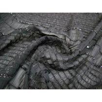Gothic Romance Shirred Textured Chiffon