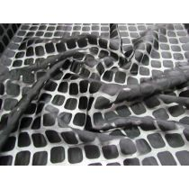 Square Spaces Super Fine Chiffon- Black on Black