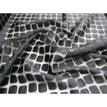 Square Spaces Super Fine Chiffon- Black on Black