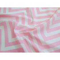 Chevron Cotton Poplin- Pink